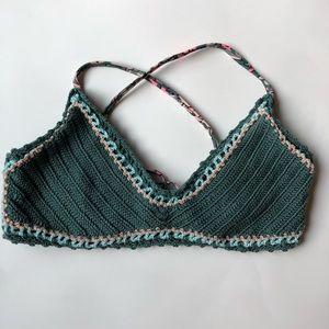 Xhilaration Crochet Bralette Bikini Top Sm…